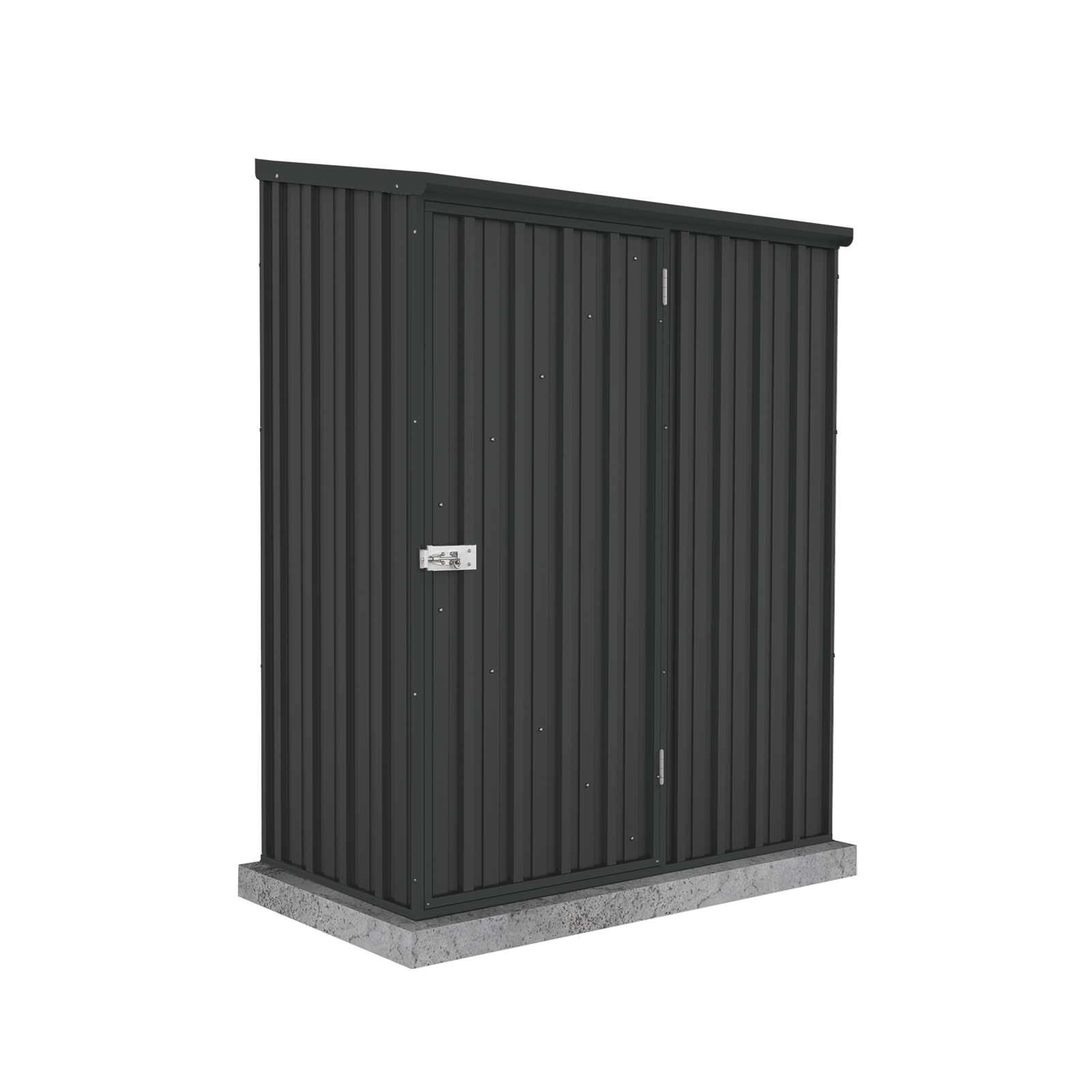 Absco Sheds 1.52 x 0.78 x 1.95m Space Saver Single Door Garden Shed - Monument