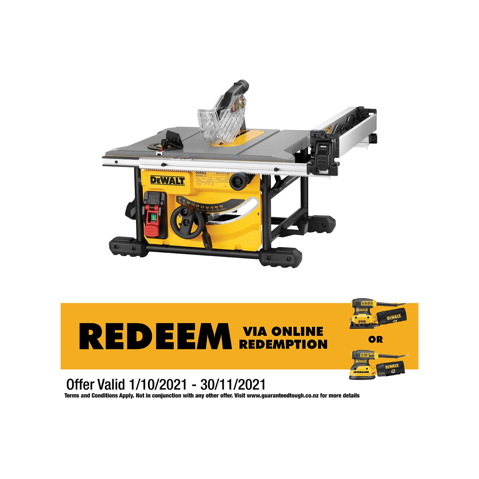 DeWALT 1850W 210mm Portable Table Saw