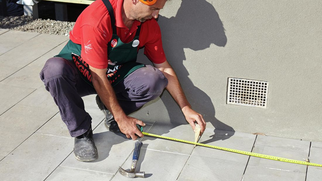 DIY Step Image - How to set out string lines for a carport . Blob storage upload.
