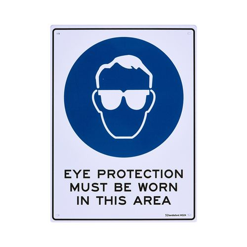 Sandleford 300 x 225mm Eye Protection Must Be Worn Plastic Sign
