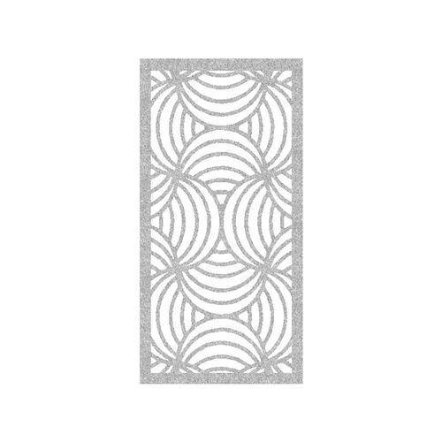 600 x 900mm ACP Profile 10 Decorative Panel Unframed - Silver Sparkle