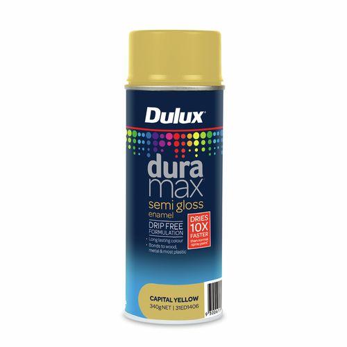 Dulux 340g Duramax Semi Gloss Capital Yellow Spray Paint