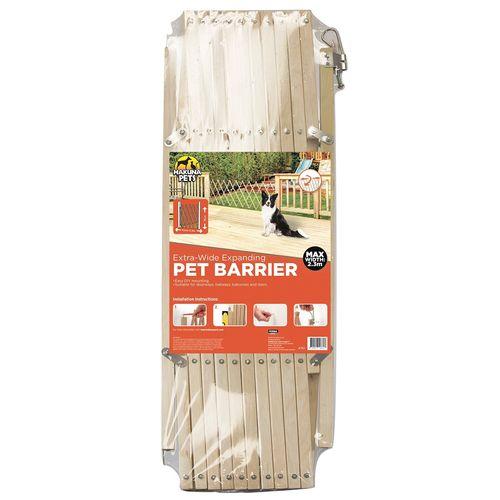 Hakuna Pets Timber Extra-Wide Expanding Pet Barrier