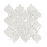 Decor8 250 x 275 x 6mm White Gloss Lantern Ceramic Mocaic Tiles