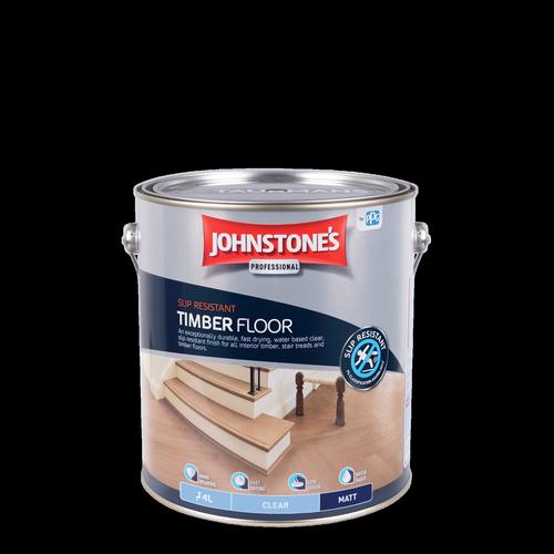 Johnstone's 4L Clear Matt Interior Slip Resistant Timber Floor Finish