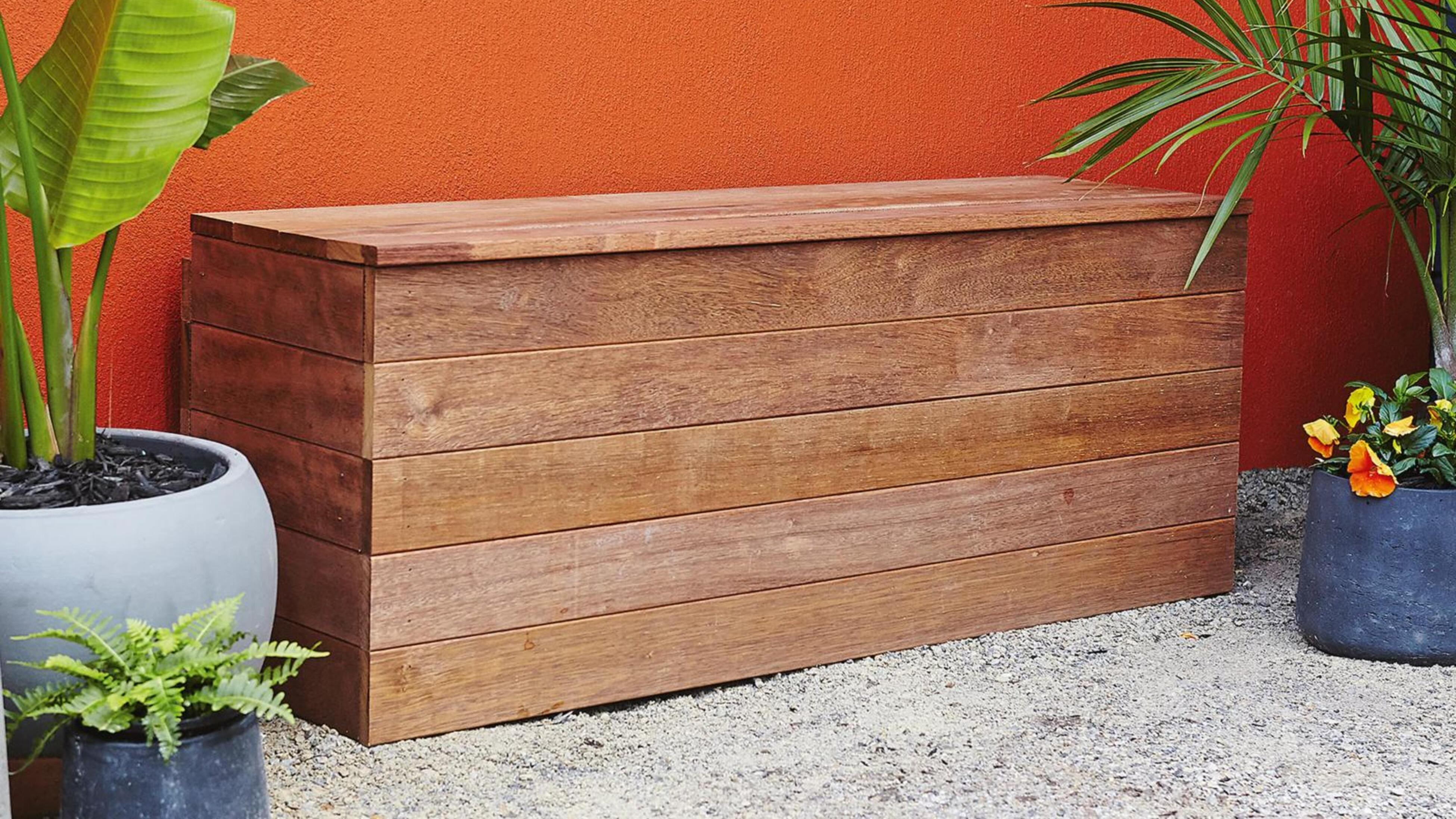 Garden bench storage.