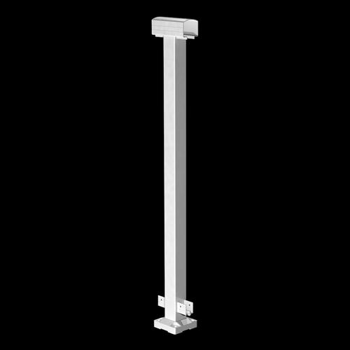 Peak Products 1000mm White Aluminium Balustrade Mid Post