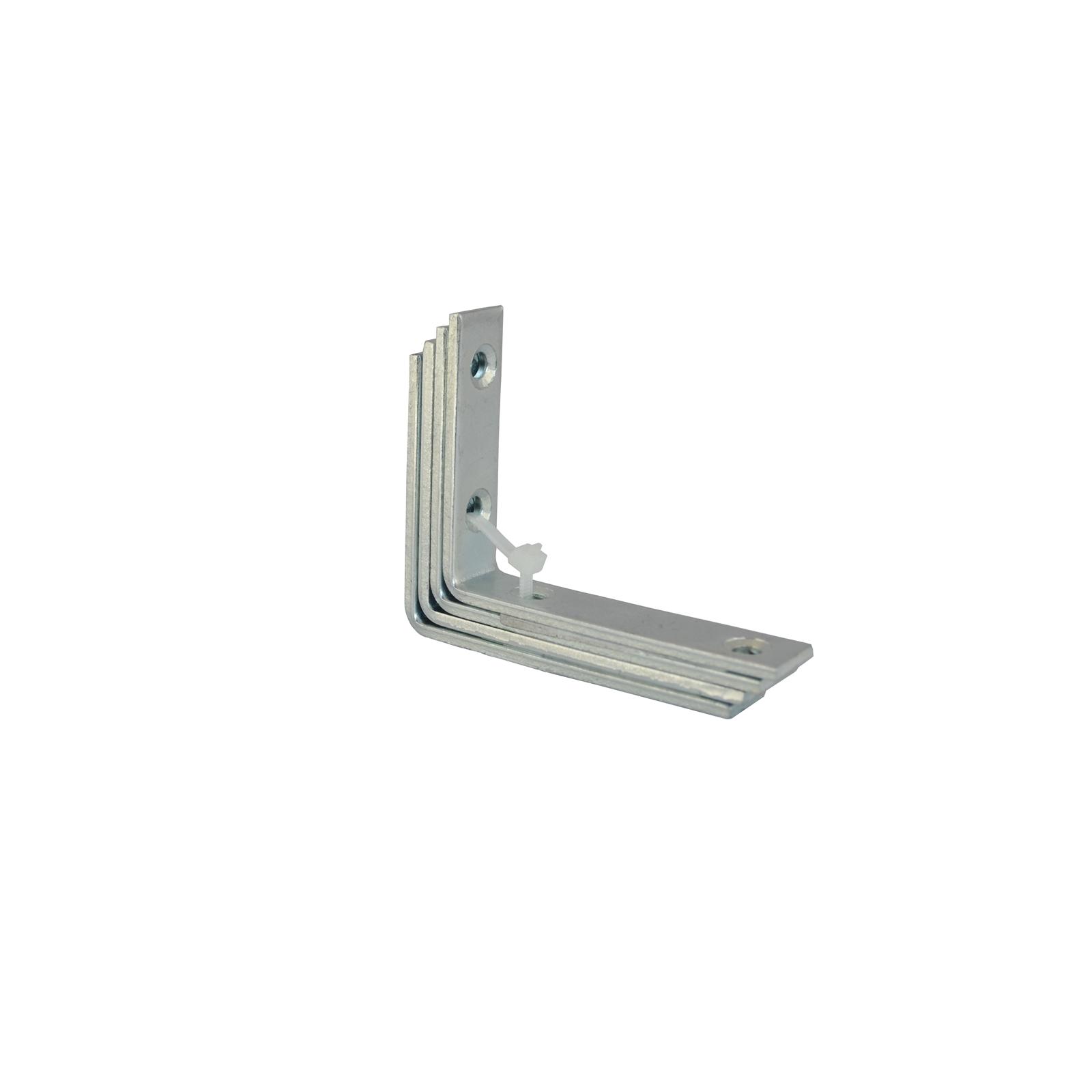 Carinya 100 x 75 x 20 x 4mm Zinc Plated Angle Bracket - 4 Pack