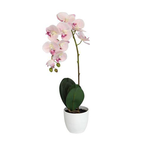 Lotus 55cm Light Pink Orchid Artificial Plant