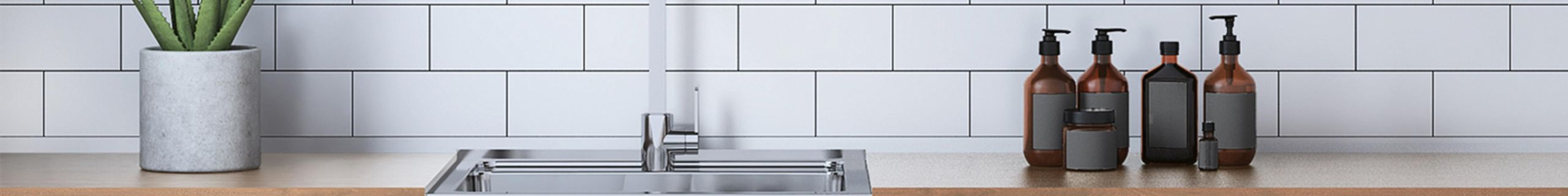 Laundry room benchtop with sink