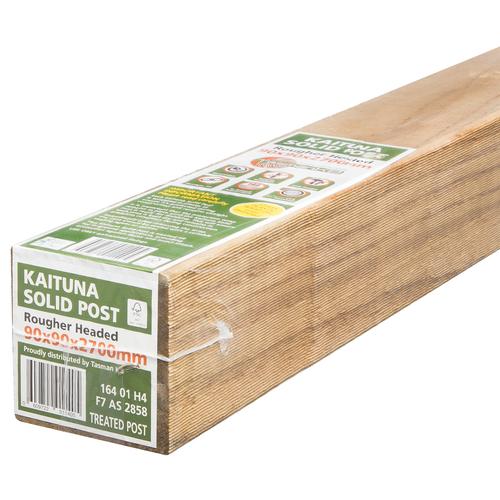 Tasman KB 90mm x 90mm x 2.7m Premium Wrapped F7 KD H4 RH Treated Pine