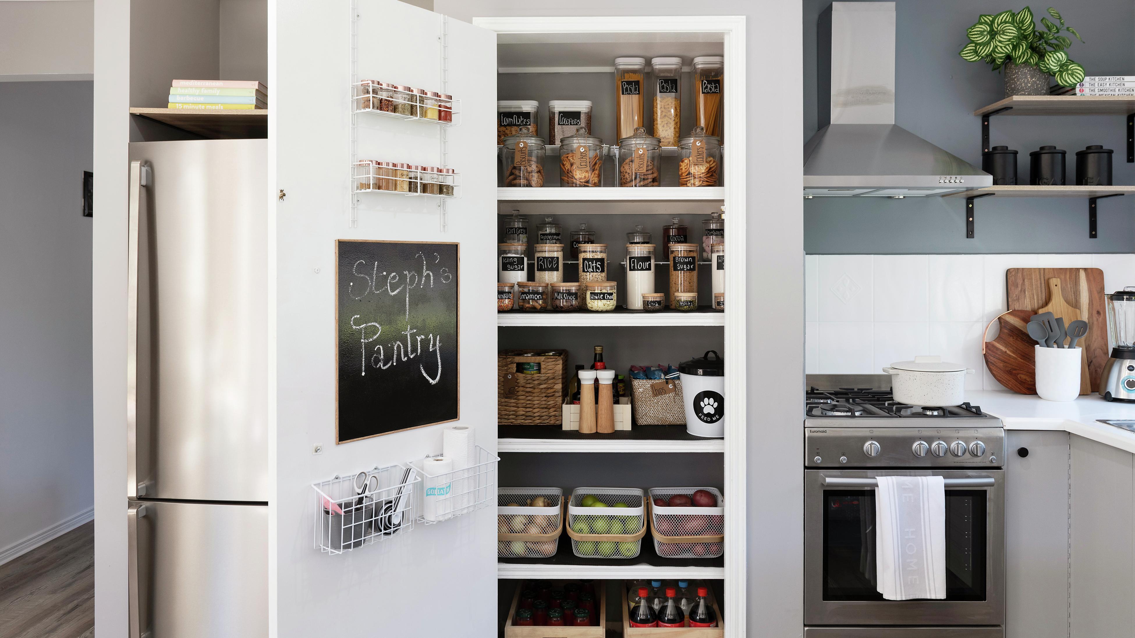 Organised pantry.
