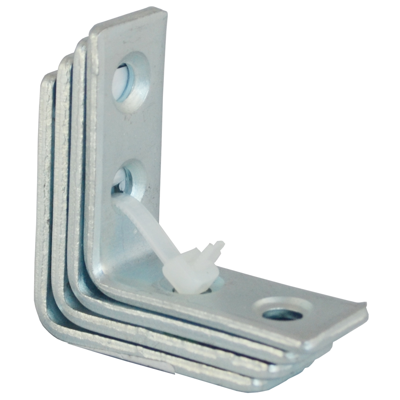 Carinya 50 x 50 x 20 x 3.5mm Zinc Plated Angle Bracket- 4 Pack