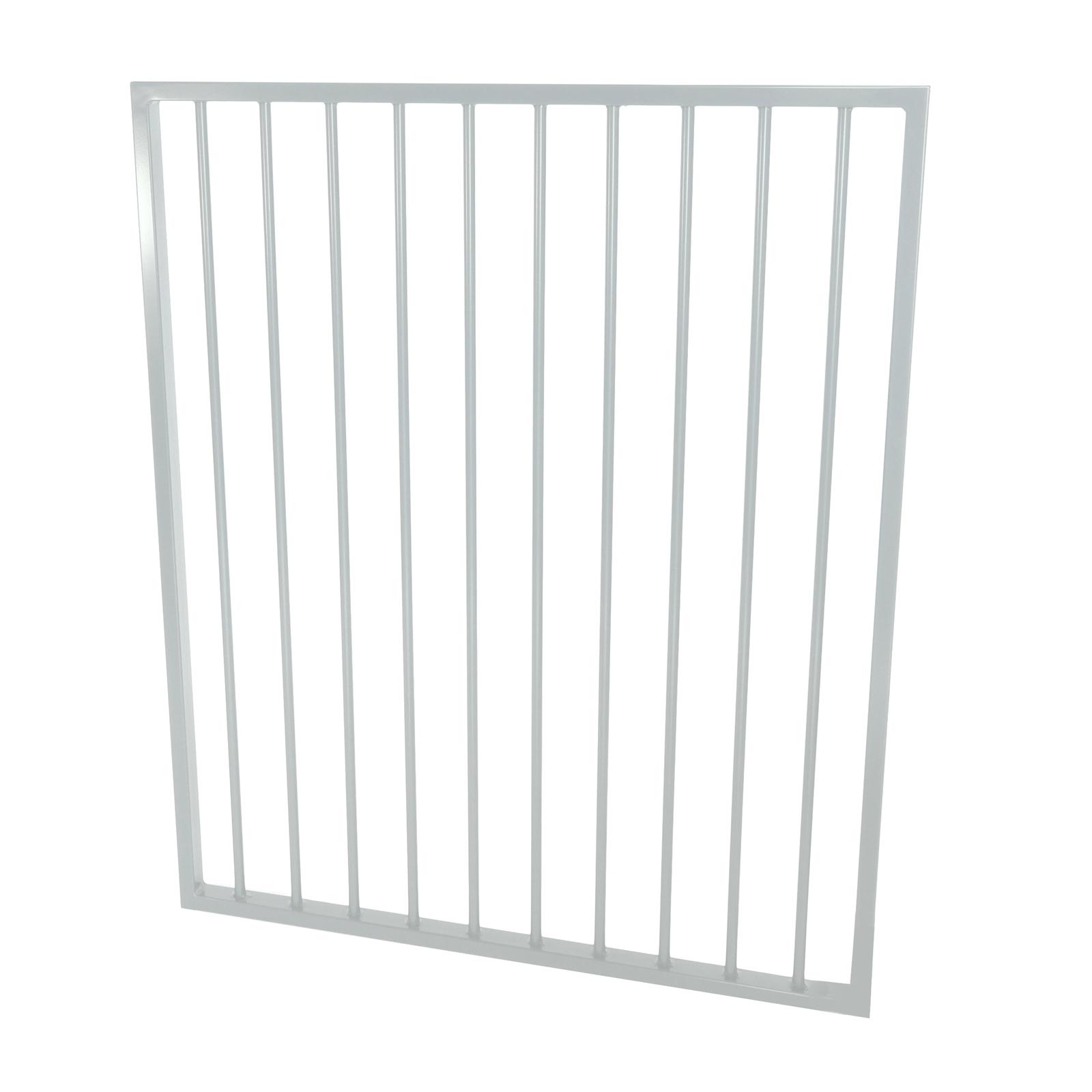 Protector Aluminium 975 x 1200mm Flat Top Ulti-M8 Pool Gate - Pearl White