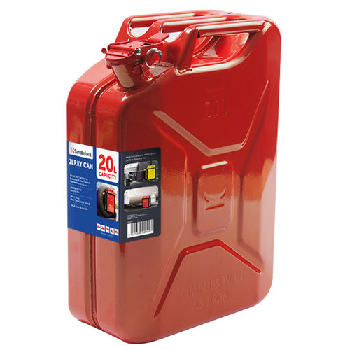 Sandleford 20L Red Metal Fuel Can