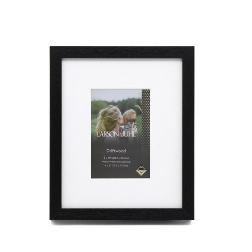 DriftWood 8 x 10inch/4 x 6inch Opening Black Photo Frame