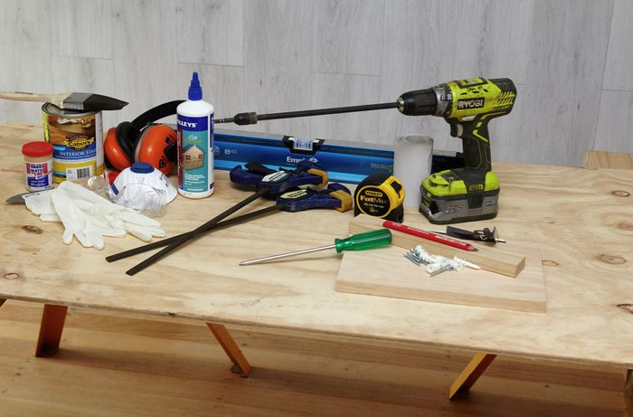 An assortment to tools required to complete this project