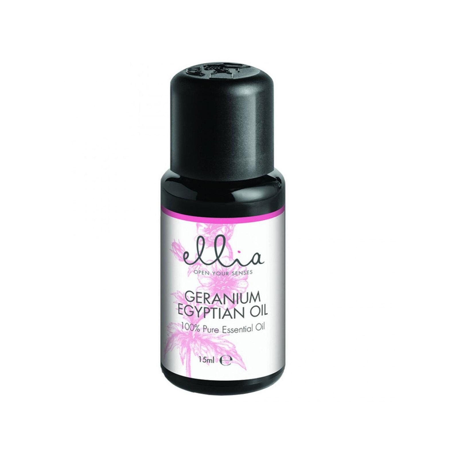 Homedics Ellia Geranium Egyptian Essential Oil 15ml Aromatherapy for Diffuser