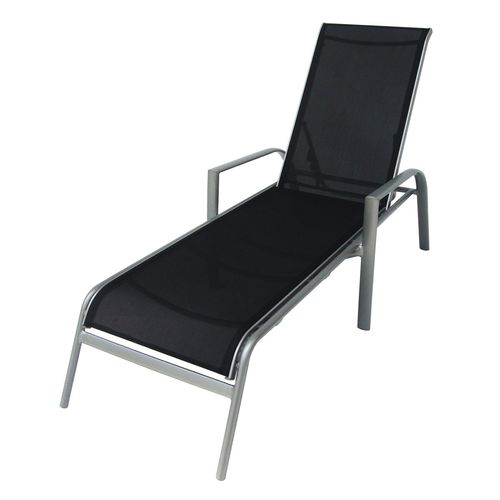Hartman Silver/Abyss Opus II Sling Lounge Aluminium  Gloss