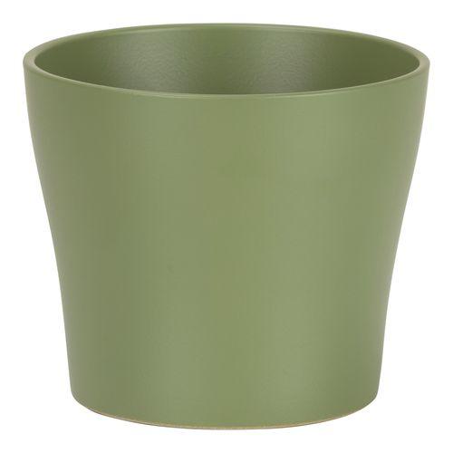 Scheurich 21 x 19cm Olive Indoor Glazed Pot