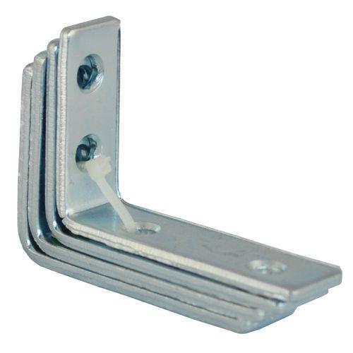 Carinya 75 x 50 x 20 x 3.5mm Zinc Plated Angle Bracket - 4 Pack