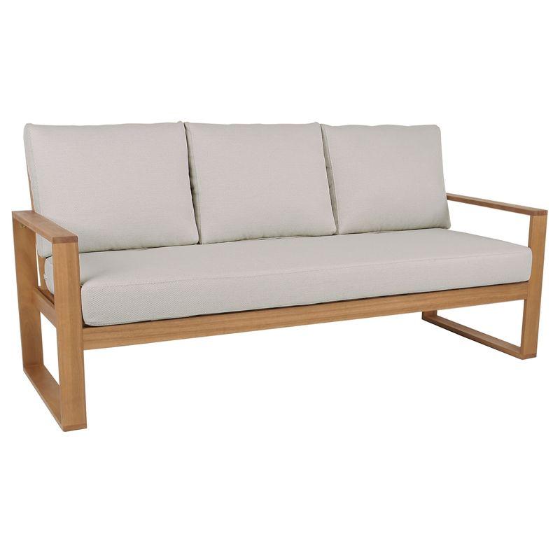 Malibu Timber 3 Seater Lounge