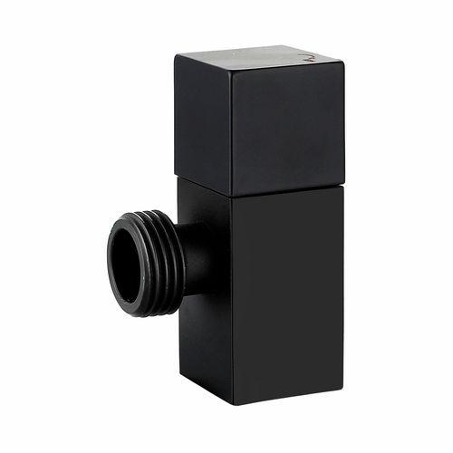 Kinetic 15mm Matte Black Brass Square Mini Cistern Cock