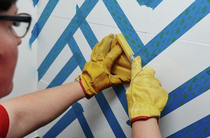 DIY Step Image - How to paint a tiled splashback . Blob storage upload.