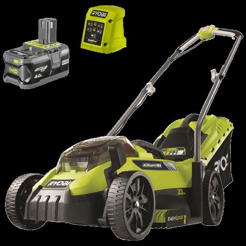 Ryobi 18V ONE+ 4.0Ah 33cm Lawn Mower Kit