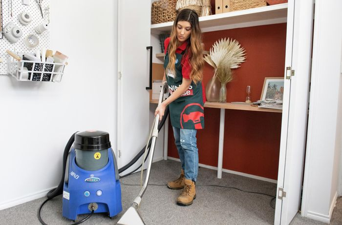 DIY Step Image - How to steam clean carpet . Blob storage upload.