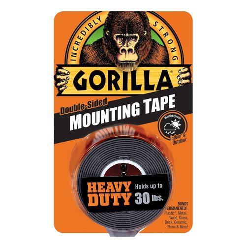 Gorilla 1.5m Black Mounting Tape