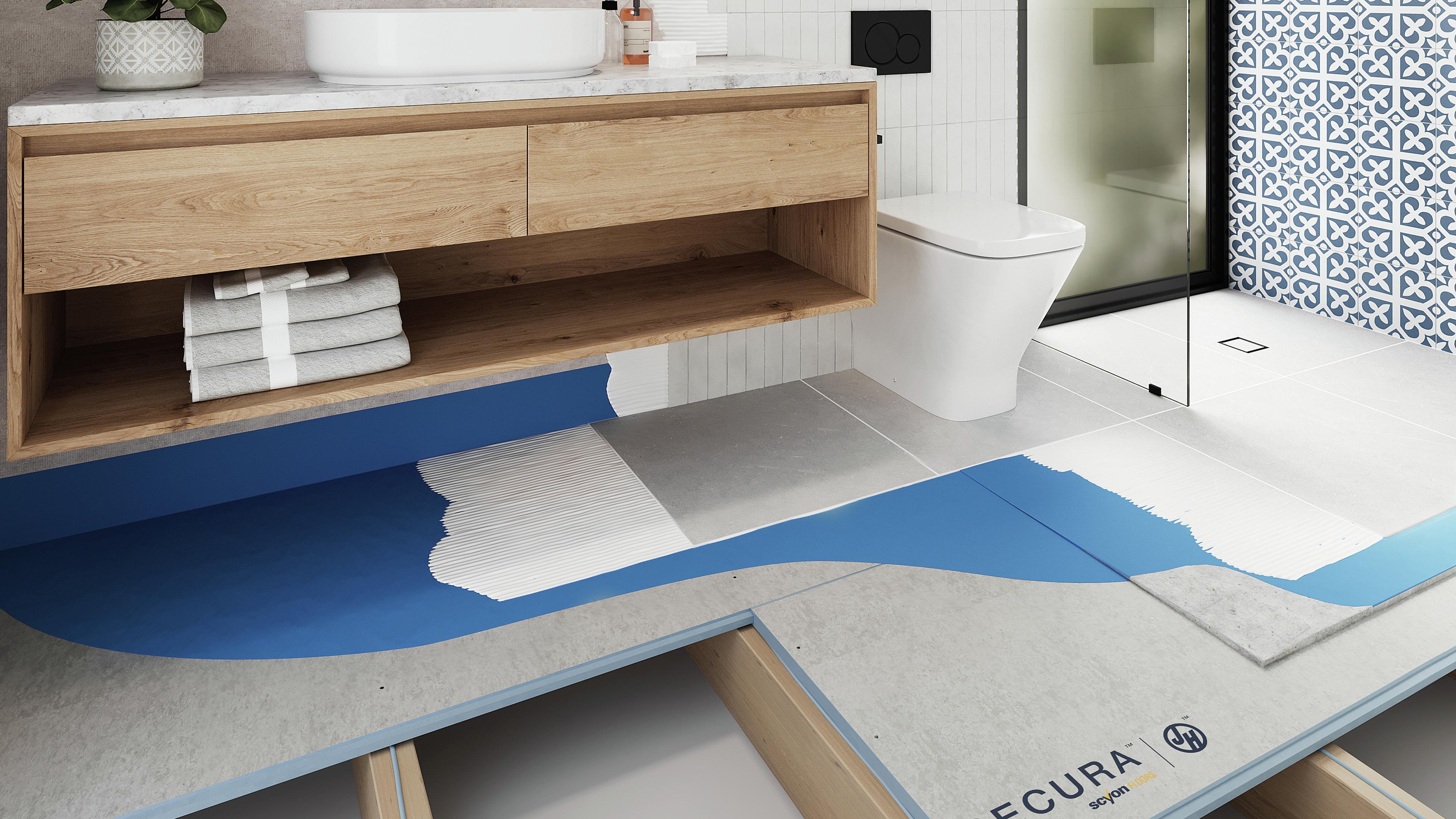 A Secura from James Hardie bathroom floor