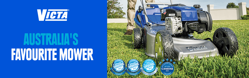Victa- Australia's favourite mower. Winner of 3 trusted brand awards and a Canstar blue award.