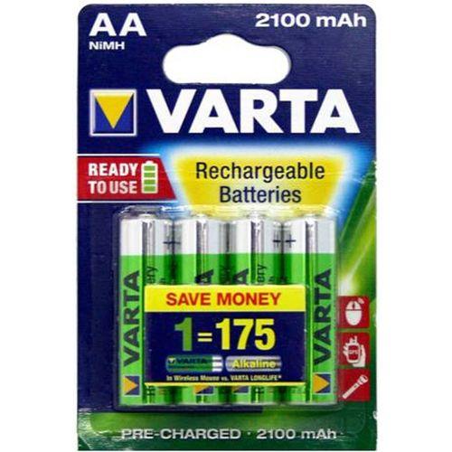Varta AA Rechargeable Batteries 2100Mah 4pk
