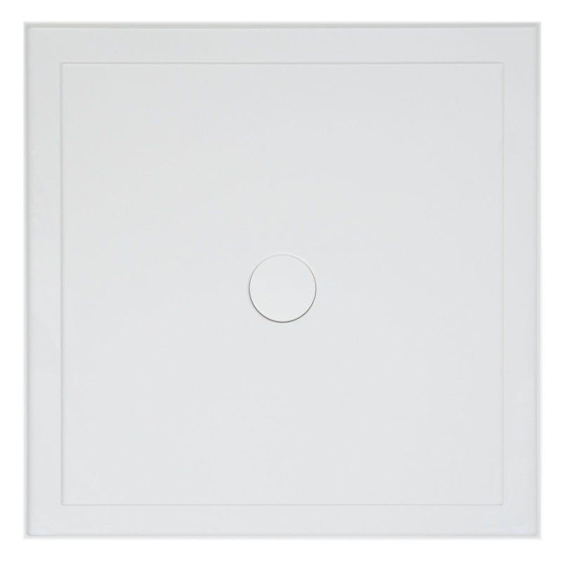 Resonance 900 x 900mm White Square Shower Base
