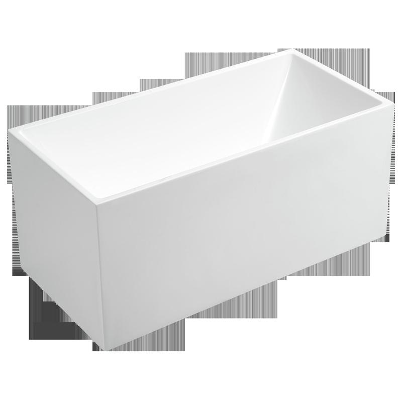 Rococo 1500 x 750 x 600mm Square Edge Freestanding Bath