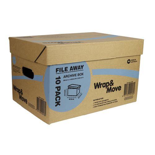 Wrap & Move 35Lt Archive Box - 10 Pack