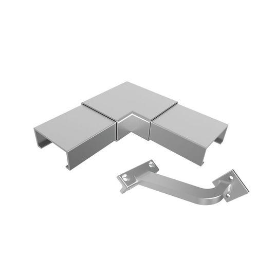 Architects Choice Silver Aluminium Offset Handrail Corner Set