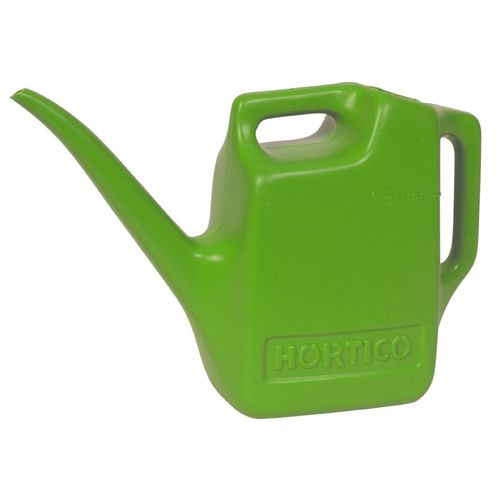 Hortico 1.5L Lime Green Plastic Watering Can