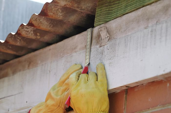 DIY Step Image - How to replace a fascia board . Blob storage upload.