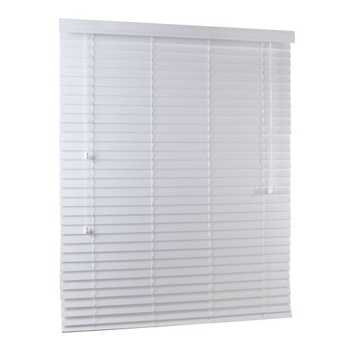 Zone Interiors 150 x 210cm 50mm Winter White PVC Economical Long Island Venetian Blind