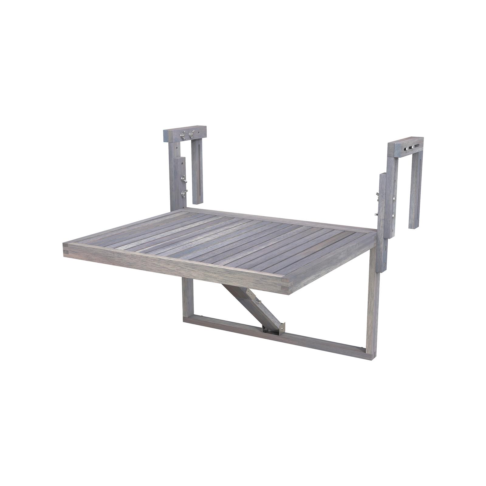 Interbuild 60 x 45cm Dusk Grey Toronto Folding Balcony Table