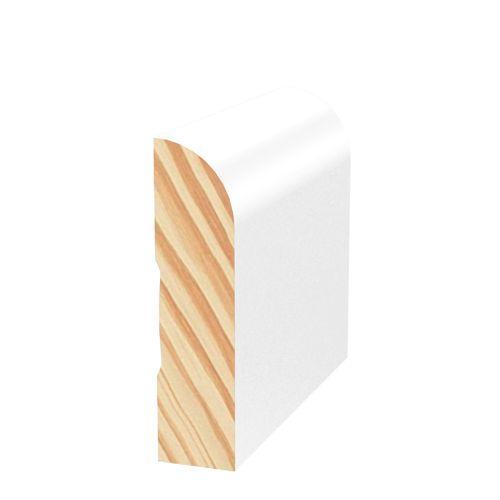 Porta 42 x 11mm 2.7m Primed Bullnose Pine Finger Jointed Moulding