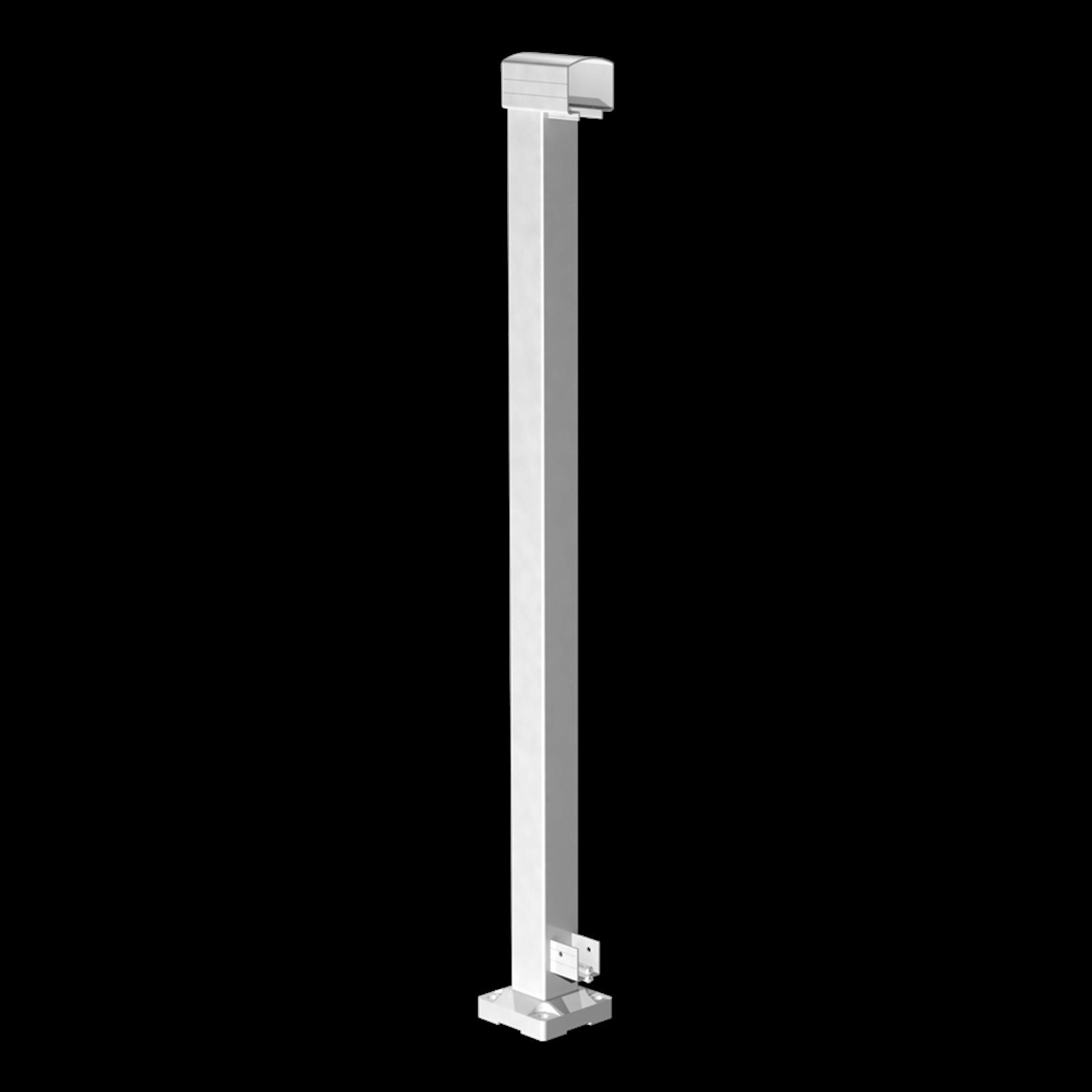 Peak 1000mm Aluminium Balustrade End Post