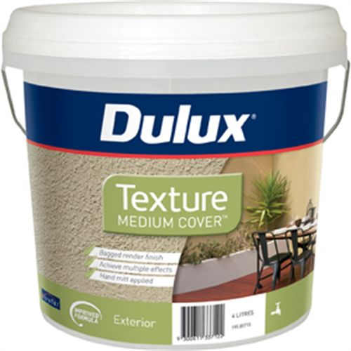 Dulux 4L Medium Texture Exterior Paint
