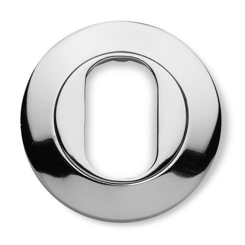Lemaar 53mm Chrome Plate Round Oval Escutcheon
