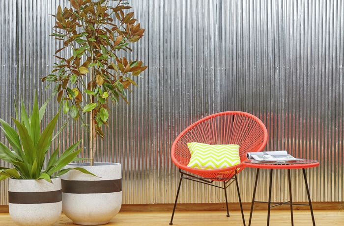 DIY Step Image - D.I.Y. corrugated iron feature wall . Blob storage upload.