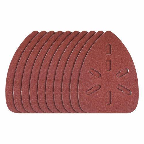 Ozito 80 Grit Medium Detail Sander Sanding Sheets - 10 Pack