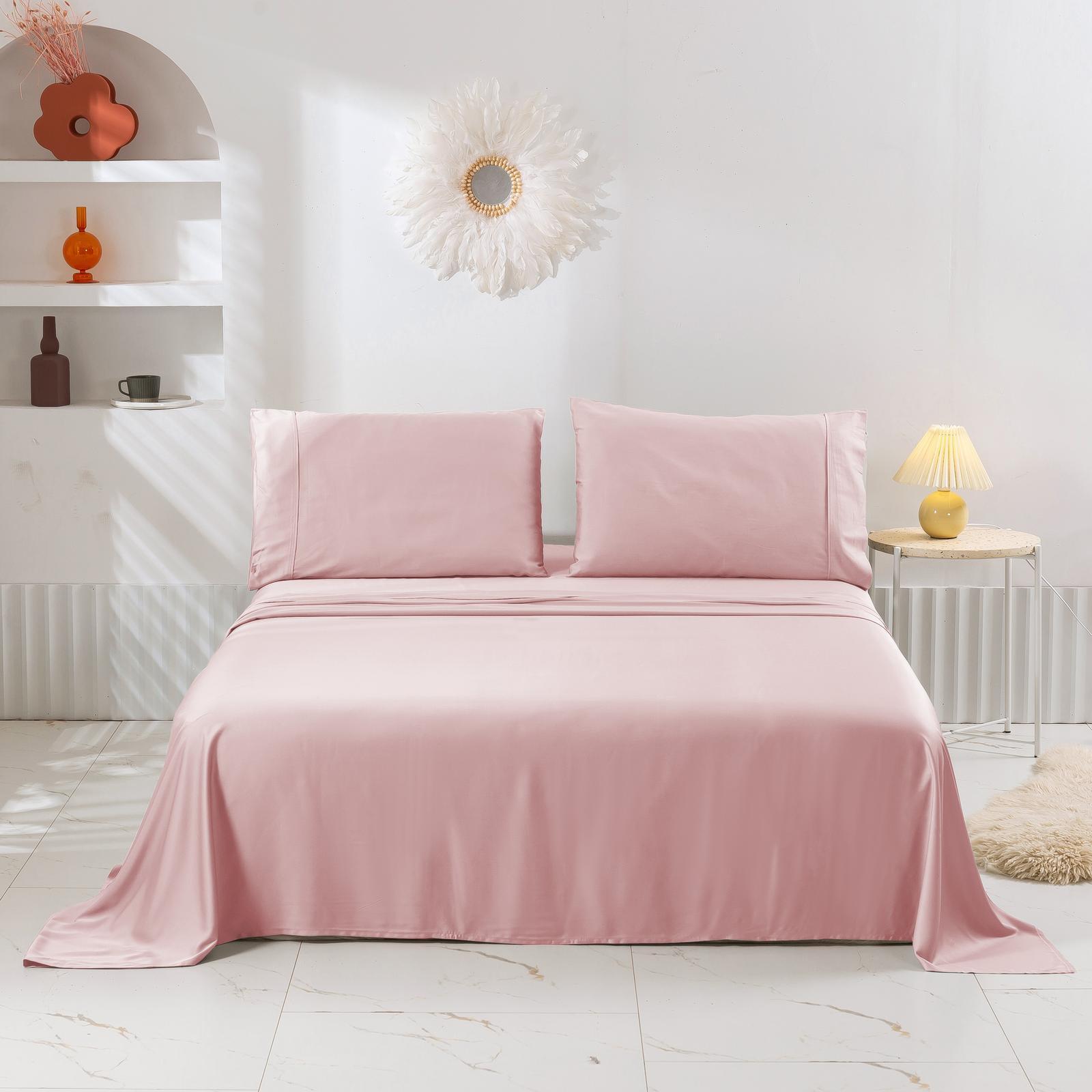 Natural Home Bamboo Sheet Set Blush Pink