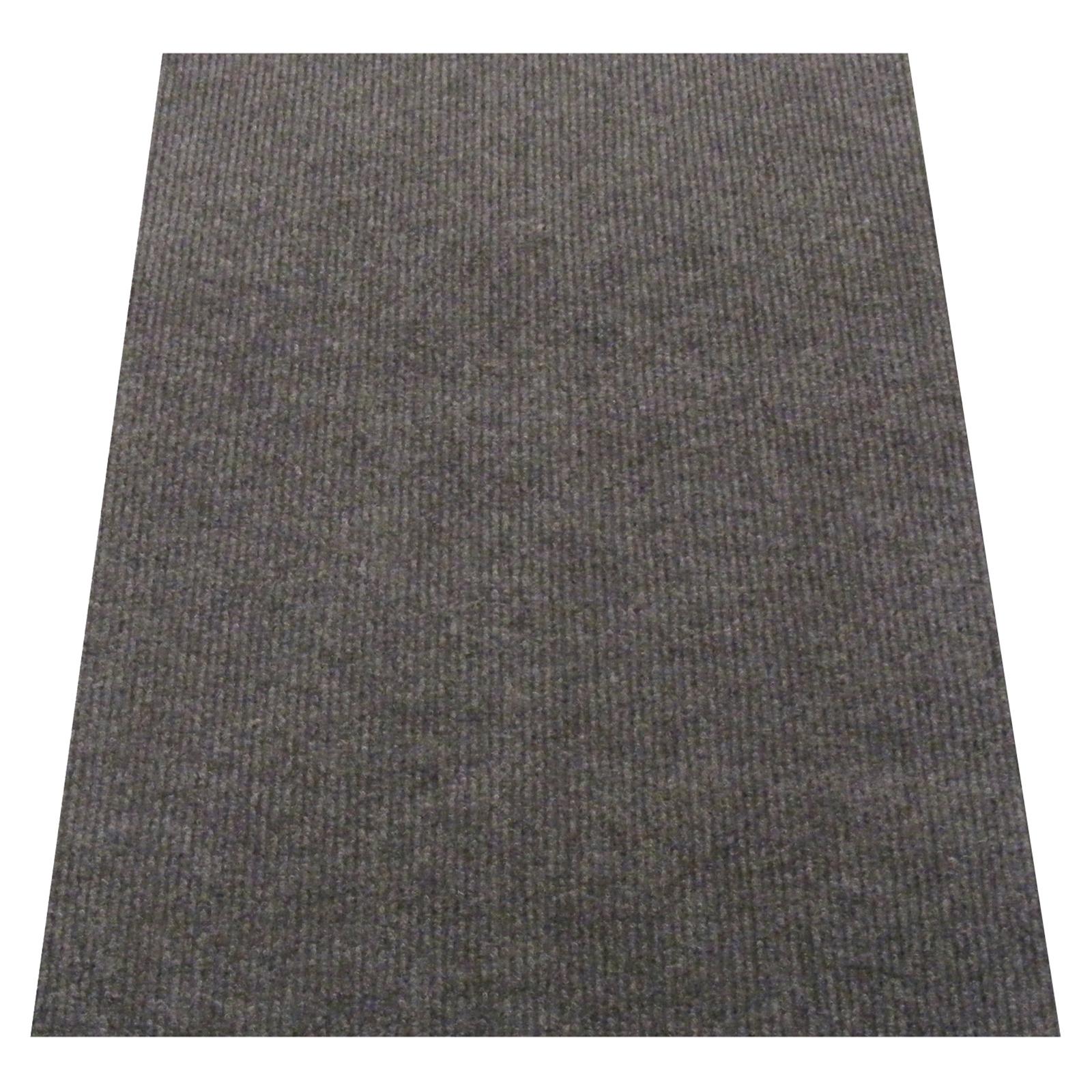 Ideal DIY 67cm Grey Oxford Ribbed Carpet Runner - Linear Metre